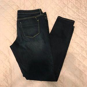 Mossimo mid rise jegging dark denim jeans 14 Long